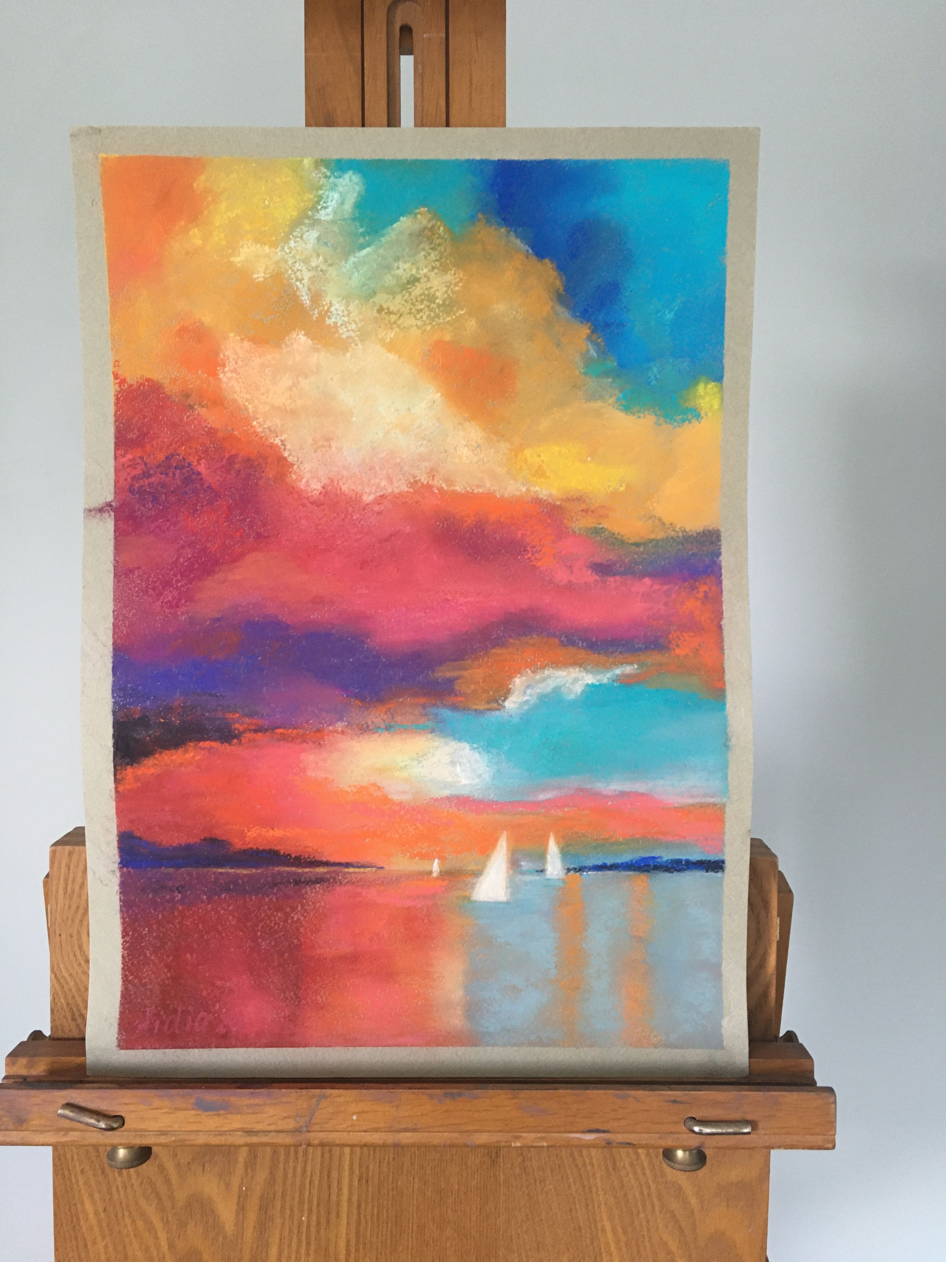 Rich Color Sea Art Bright Wall Art Decor For Living Room Etsy Painting Sea Art Sunset Painting