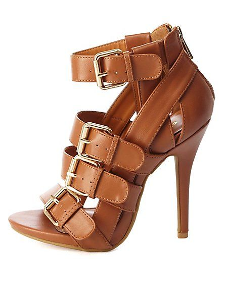 8ad1dd9bd1d Buckled & Belted Strappy High Heels: Charlotte Russe #charlotterusse ...