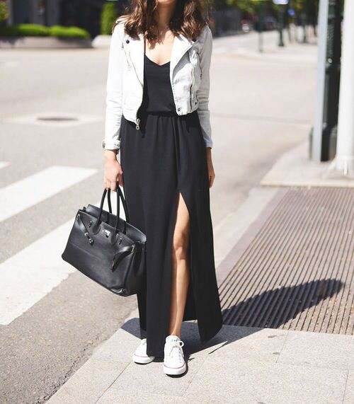 f7865687777 Another CASUAL look   a Dress with a split