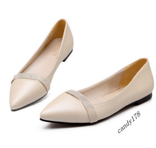 Sexy New Fashion Womens Rhinestones Pointed Toe Slip On Casual Shoes All Us Size