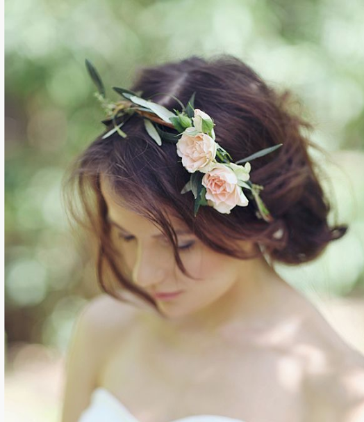 Fall Wedding Hairstyles With Flower Crown: Wedding Hairstyles, Flower Crown