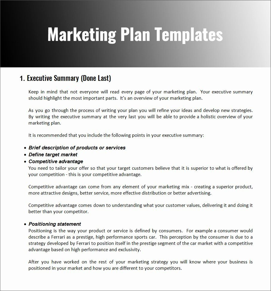 Strategic Marketing Plan Template Inspirational 32 Free