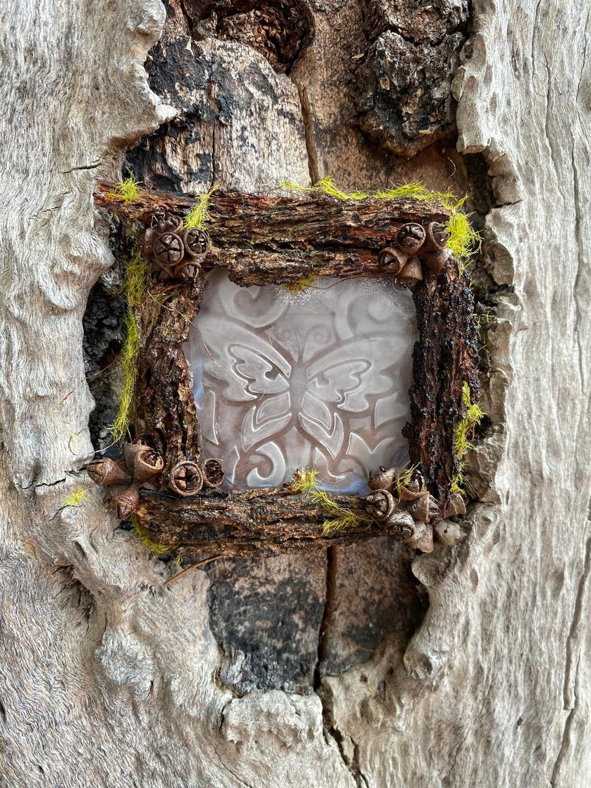 Fairy House Window - Fairy garden, Miniature, Fairy furniture, Indoor garden, Dollhouse furniture,Twig furniture, Fairy House