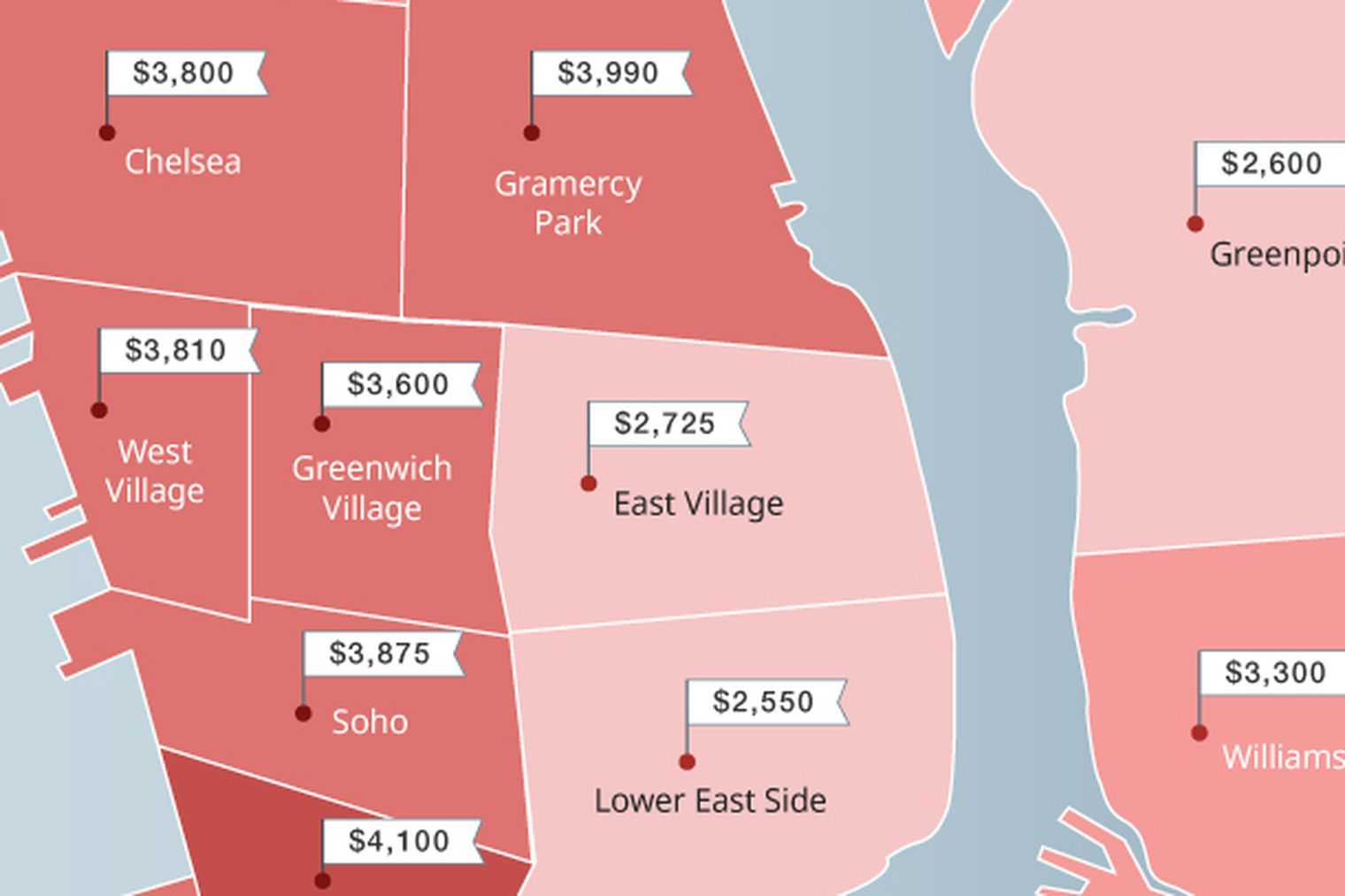 The Priciest And Cheapest Nyc Neighborhoods For Renters Rent In Nyc Nyc The Neighbourhood