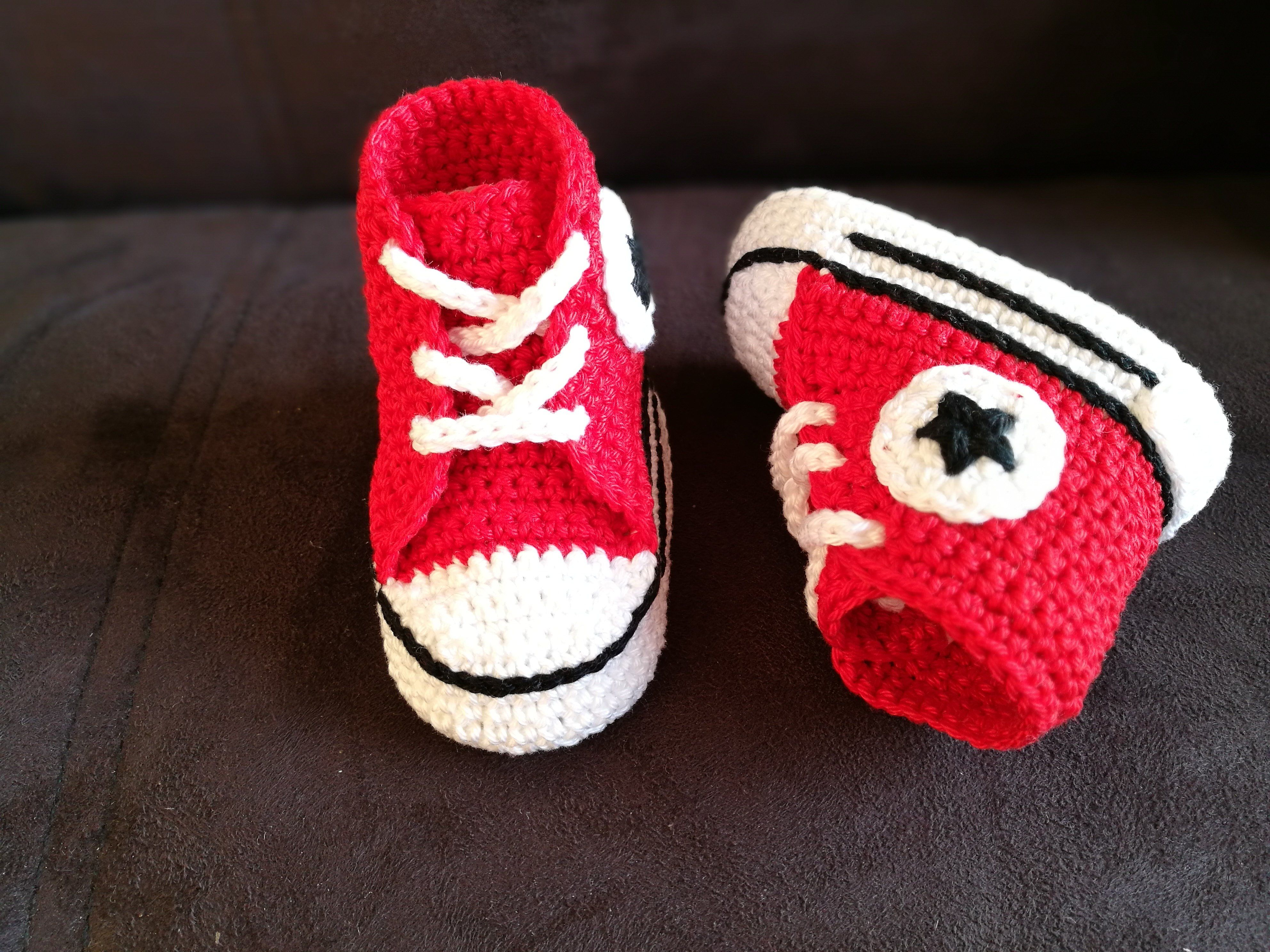 ae42d81f9a0 Baby crochet sneakers