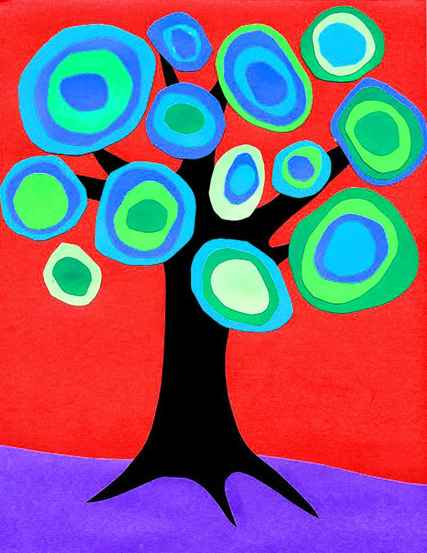 Tree Of Life Picture Kids Color Circles