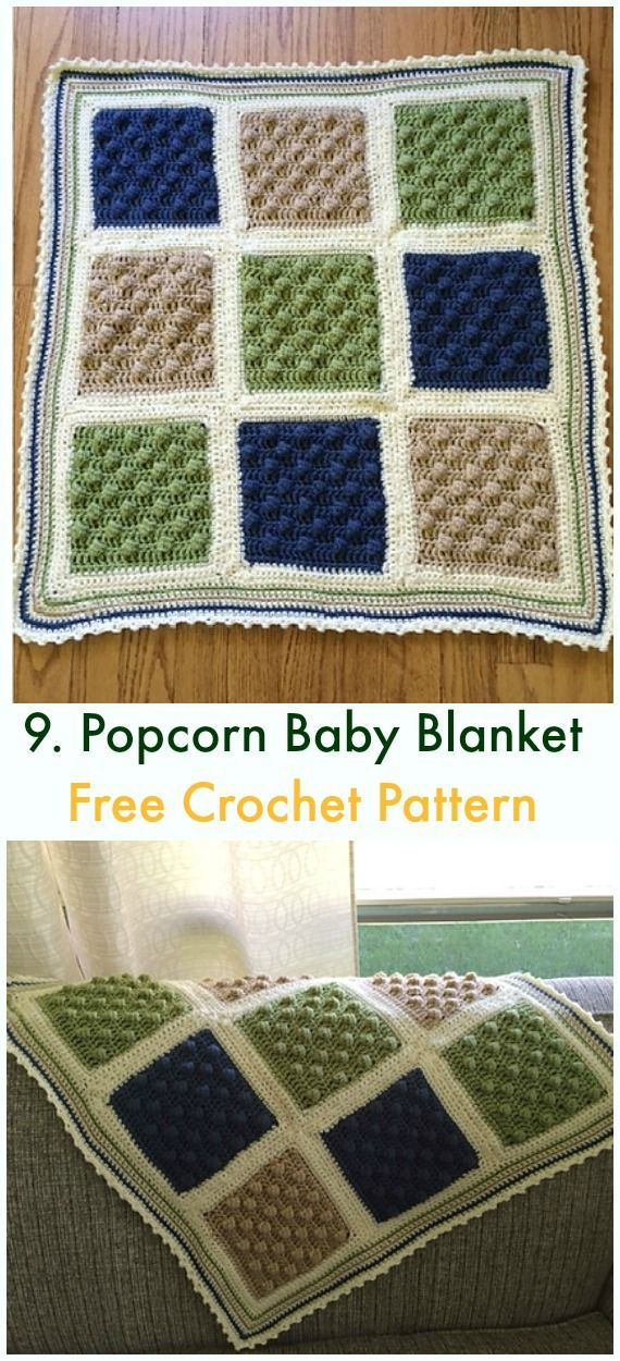 Bobble & Popcorn Blanket Free Crochet Patterns | Häkeln | Pinterest