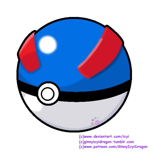 Pokemon Pokeball Great Ball By Https Www Deviantart Com Icyi On Deviantart Pokeball Pokemon Great Ball Ginnyicyi Pokemon Pokeball Ball