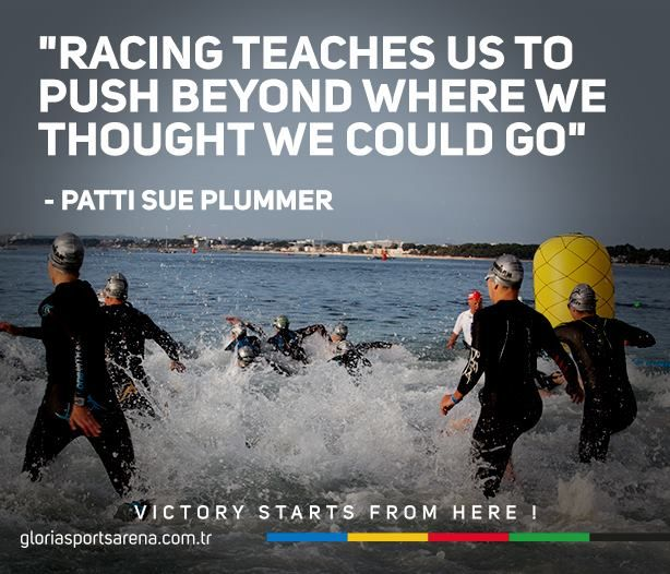 "#quoteoftheday & #gununsozu:  ""Racing teaches us to push beyond where we thought we could go"" - Pattis Sue Plummer  #allaboutsports #gloriasportsarena"