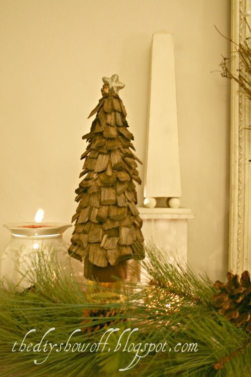 Awesome DIY Styrofoam Wood Chip Tree Tutorial DIY Show Off ™ U2013 DIY Decorating And  Home Improvement. Tabletop Christmas ...