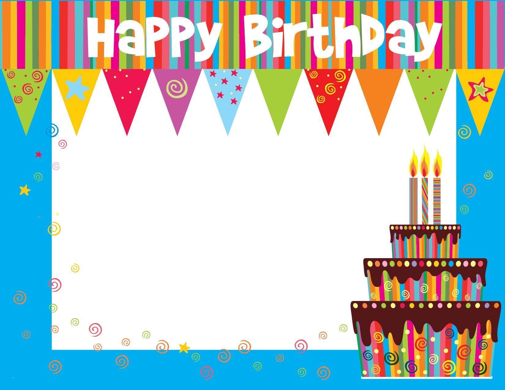 Birthday Card Template Birthday card template free, Free