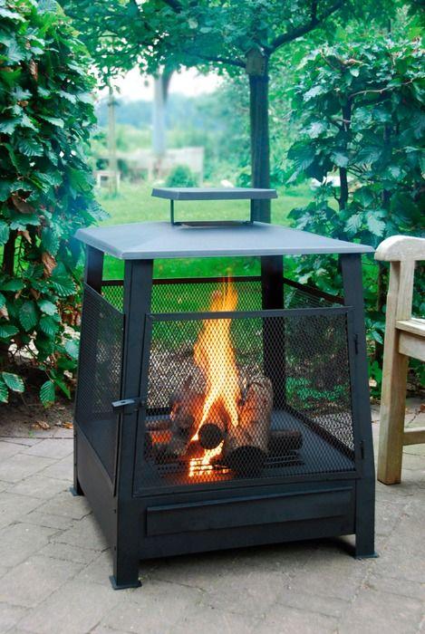 esschert design patio stove pagoda black metal