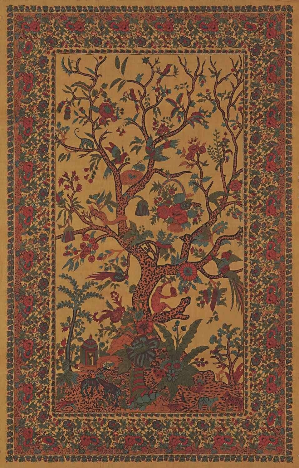 Handmade 100 Cotton Tree Of Life Tapestry Tablecloth Bedspread Gold Twin Full Queen King Tree Of Life Tapestry Tree Tapestry Tapestry