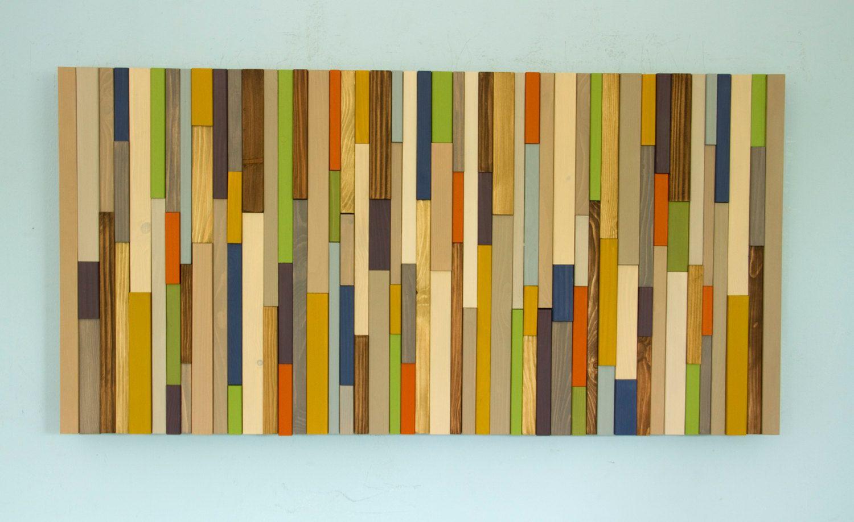 Wood wall art modern wood art reclaimed d wood sculpture mid