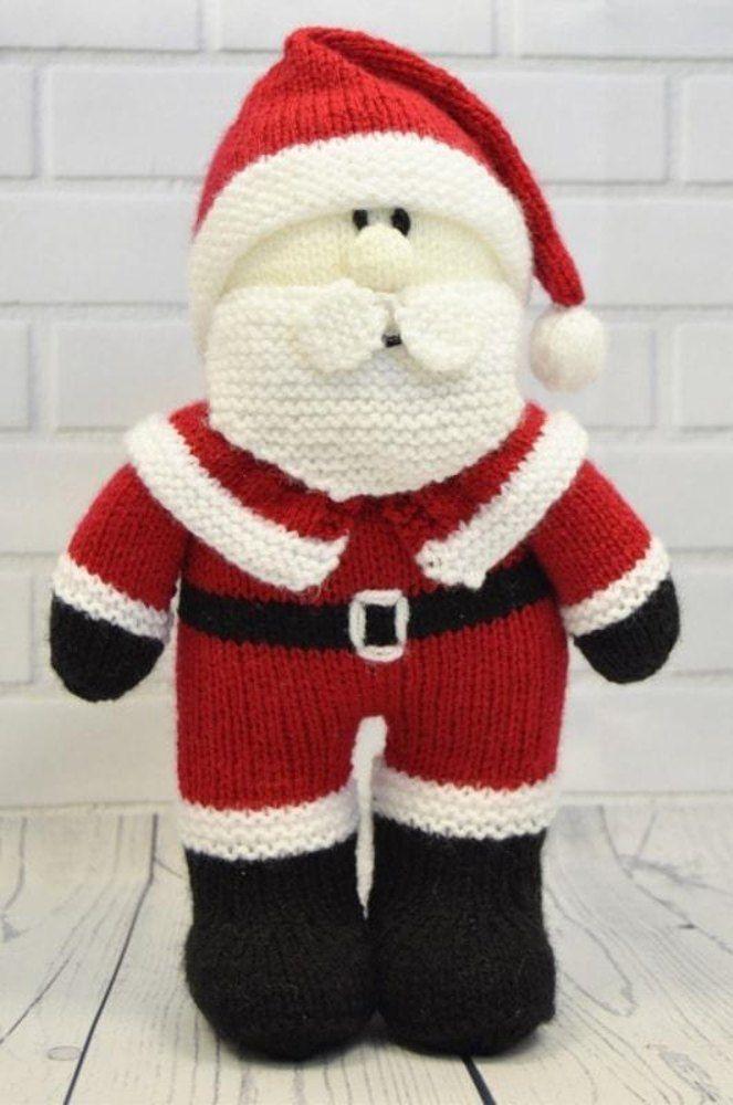 Festive Friends Santa Knitting Patterns Santa And Toy