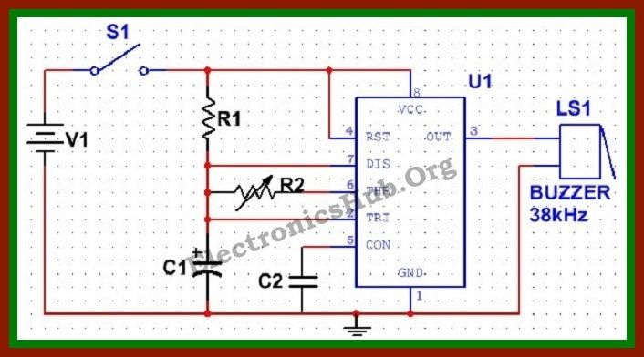 simple electronic mosquito repellent circuit circuit diagram circuit diagram of electronic mosquito repellent resource link electronicshub