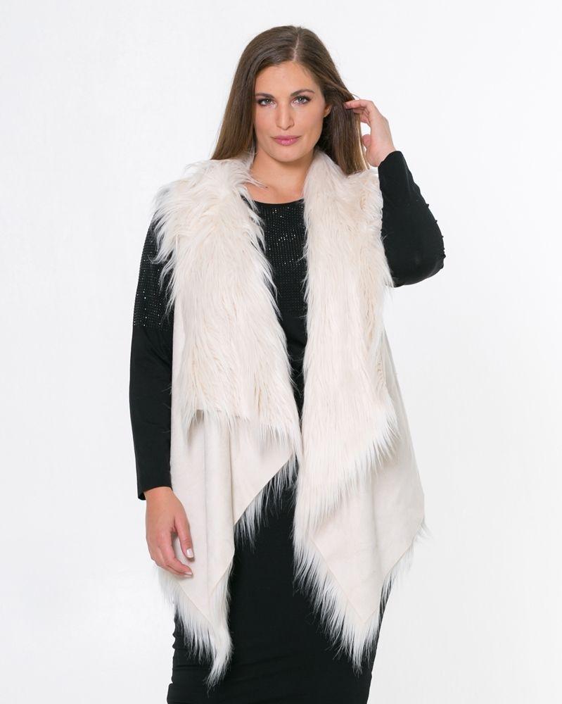 e534cc647dc2 Γιλέκο με faux-fur επένδυση — mat. XXL sizes — Γυναικεία Ρούχα ...