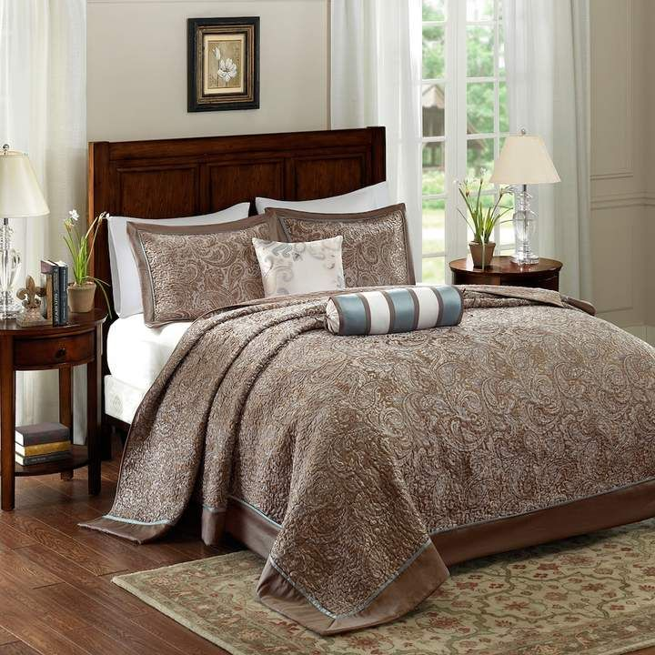 Madison Park 5 Piece Whitman Jacquard Bedspread Set Bed Spreads Bedspread Set Paisley Bedding