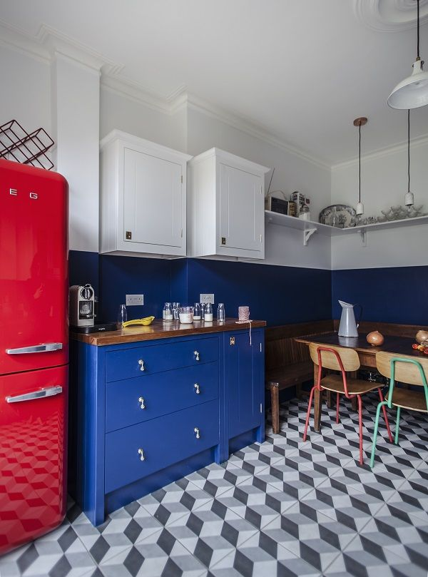 a bold retro inspired kitchen from british standard kitchens rh pinterest com