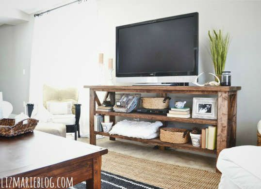10 Easy Ways To Build Your Own Tv Stand Rustic Tv Console Home Decor Rustic Tv Stand