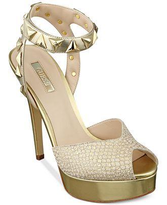 bfca7b404a GUESS Kaydee Platform Sandals - GUESS - Shoes - Macy's   Wedding ...