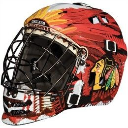 Franklin Sports Nhl Team Sx Comp Goalie Mask 100 Goalie Face Mask Blackhawks Hokkej