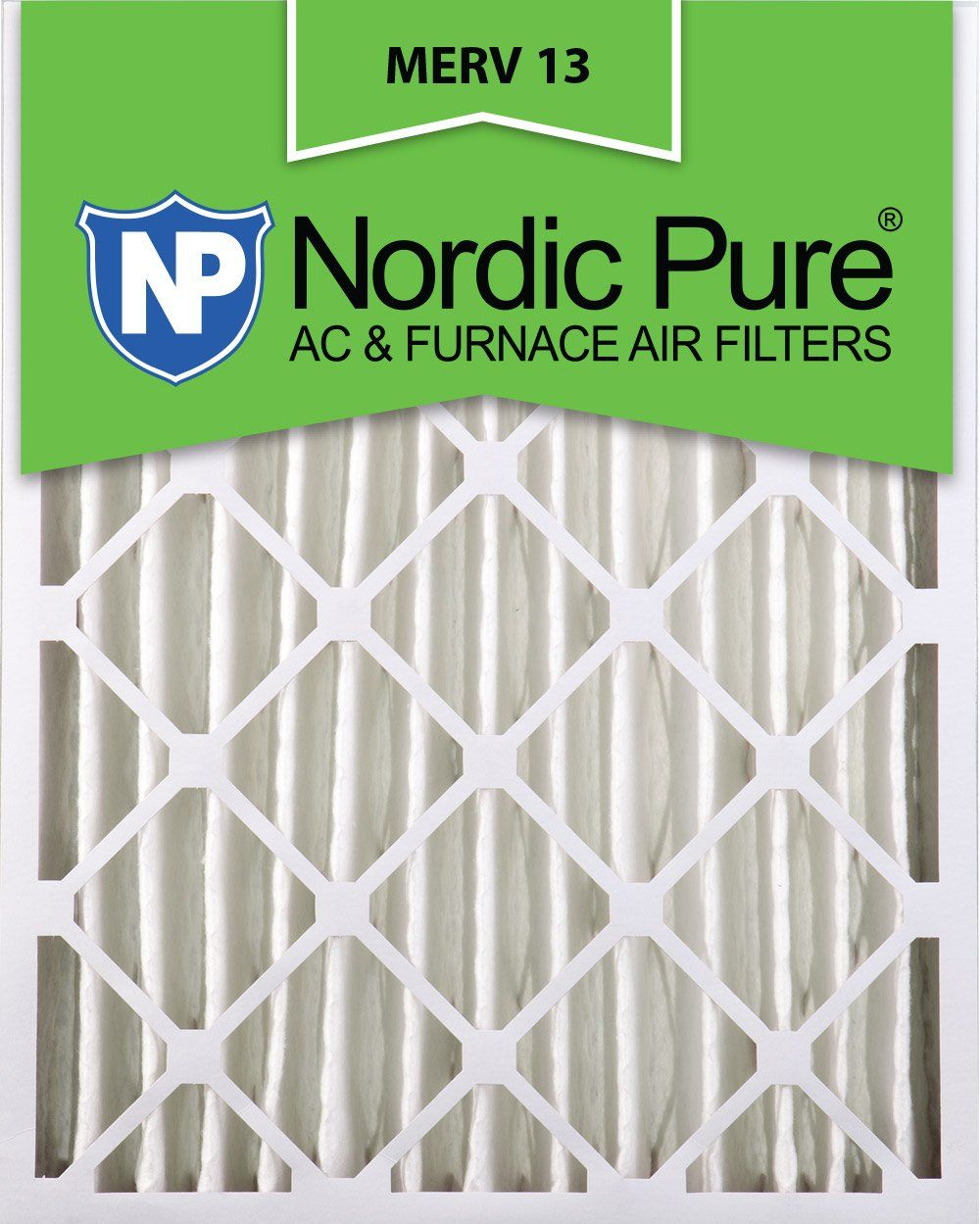Nordic Pure 20x24x4 (35/8 Actual Depth) MERV 13 Pleated