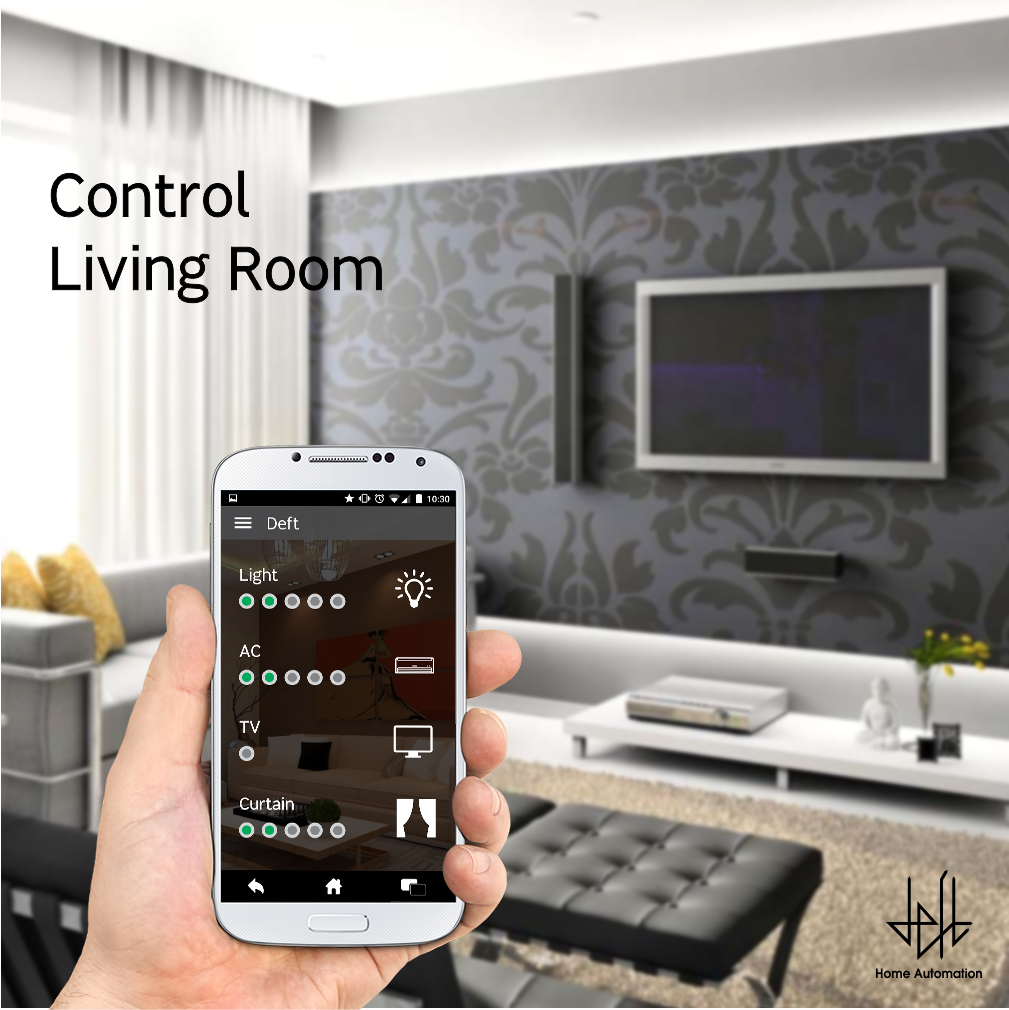 Light Automation Control Living Room S Light Temperature And Electronic Appliances