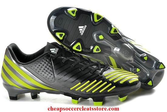 Adidas Predator LZ TRX FG Tur Black Fluorescent Yellow Soccer Cleats