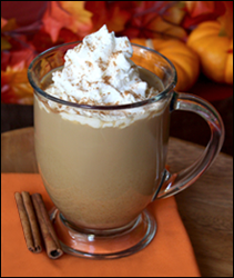 Hungry Girl's version of Starbucks Pumpkin Spice Latte (97 calories vs 300)