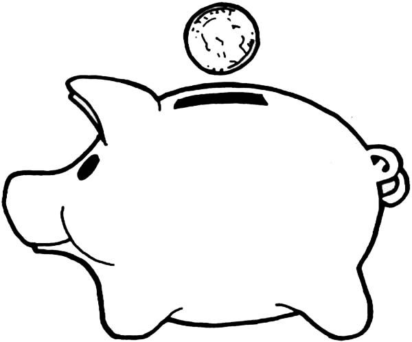 Piggy Bank Coloring Pages Enjoy Coloring Piggy Bank Super