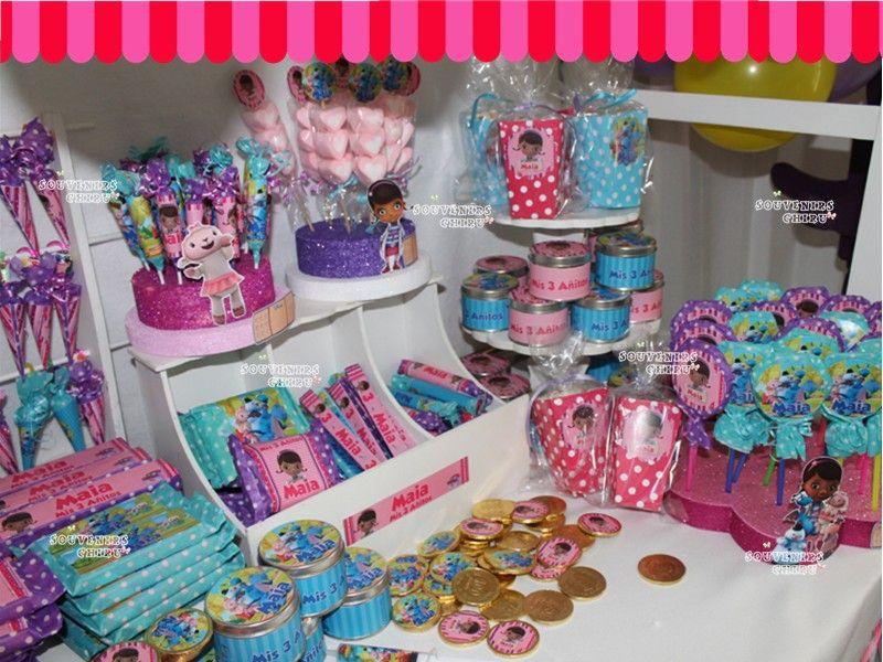 Decoracion Kiosco Golosinas ~ Candy Bar Doctora Juguetes Golosinas personalizadas, Doctora Juguetes