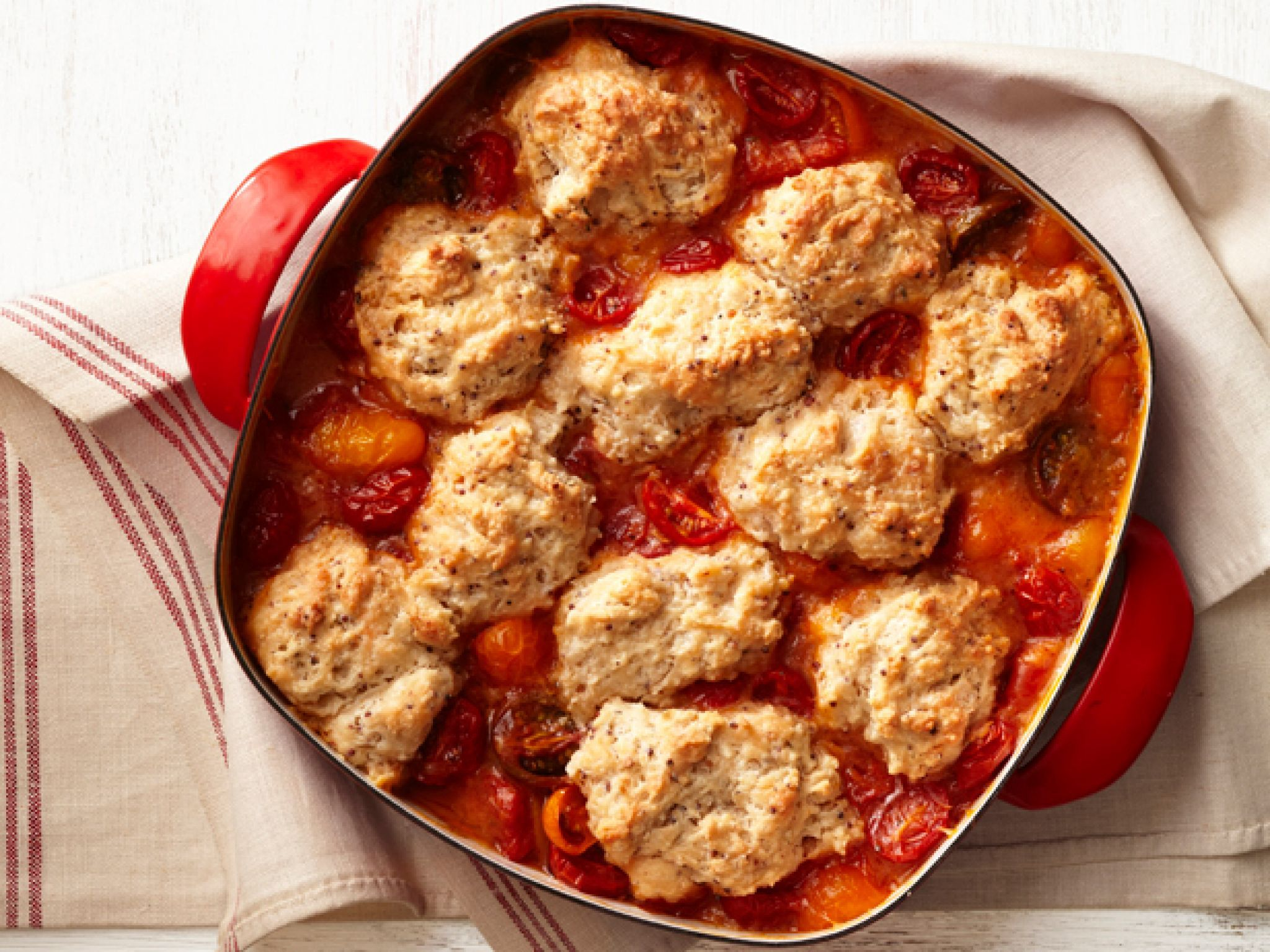 Have a look at tomato cobbler its so easy to make cobbler recipe box tomato cobbler recipe from food network forumfinder Choice Image