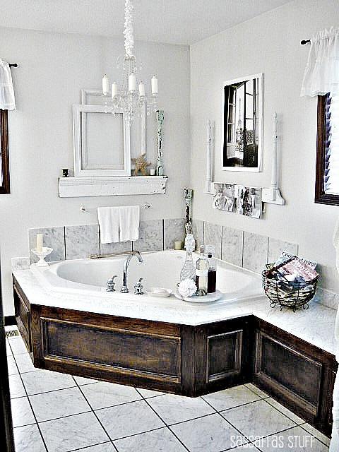 Master Bath Garden Tub Bathroom Makeover Drop In Tub