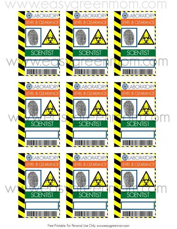 DIY Mad Scientist Costume and Scientist Badge Free Printable Mad - id badge template