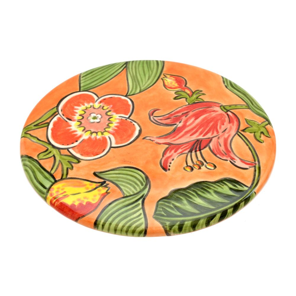 Descanso para panela ou travessa. Você define seu uso. Cores alegres são a marca da artista plástica Teresinha Grimaldi. Conheça mais em www.kosinia.com.br