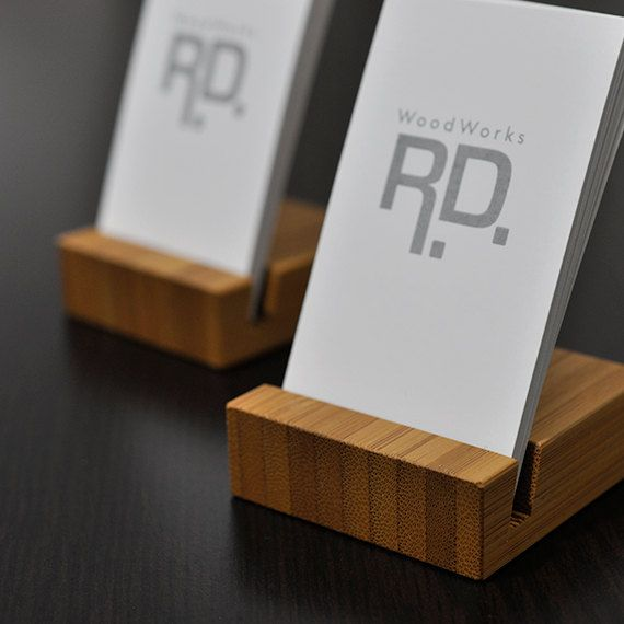 Business Card Holder Vertical Business Card By Woodworksrd 12 00 Wood Business Cards Business Card Holders Business Cards
