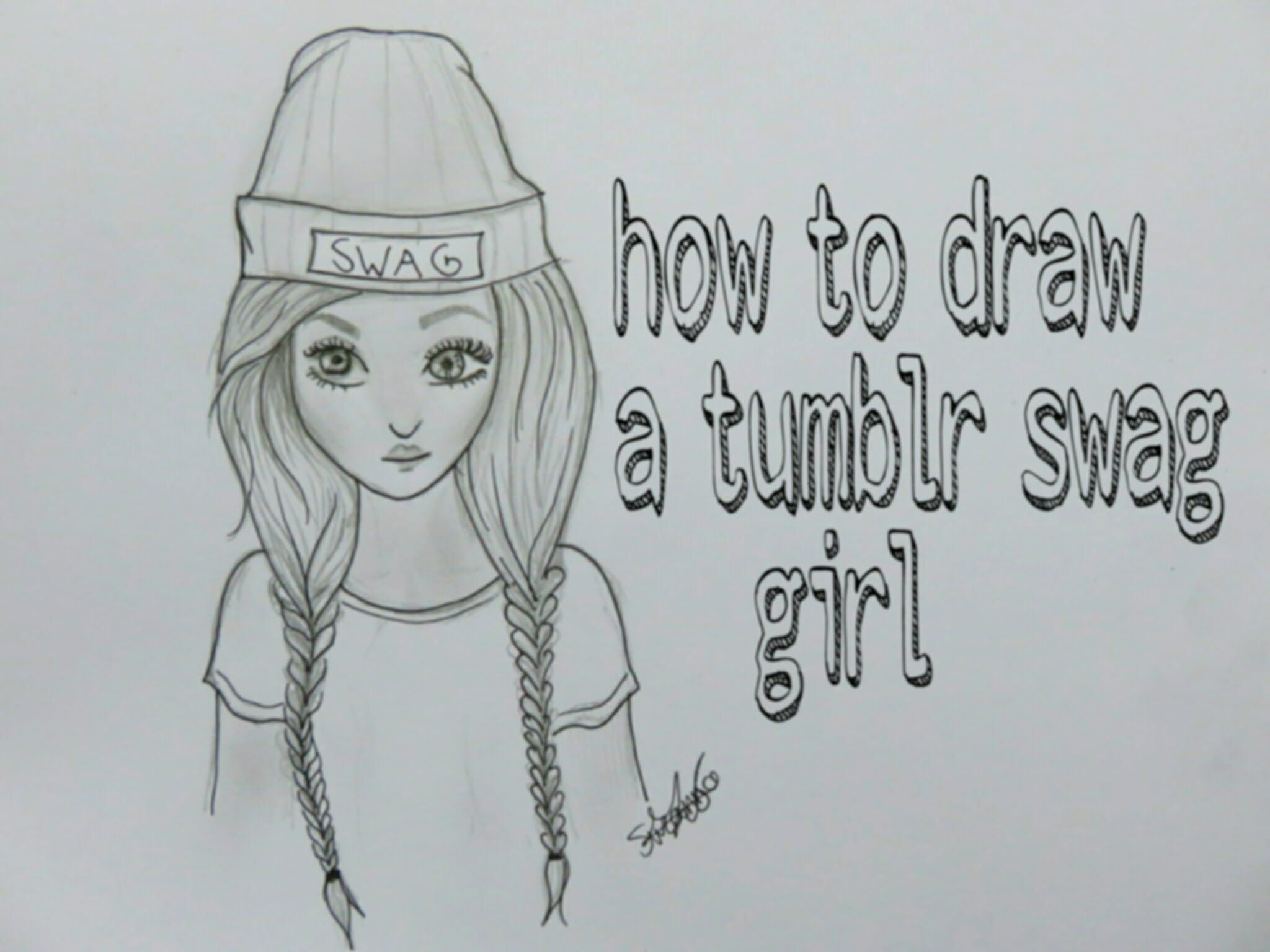 A new tutorial on how to draw a tumblr swag girl, hope you