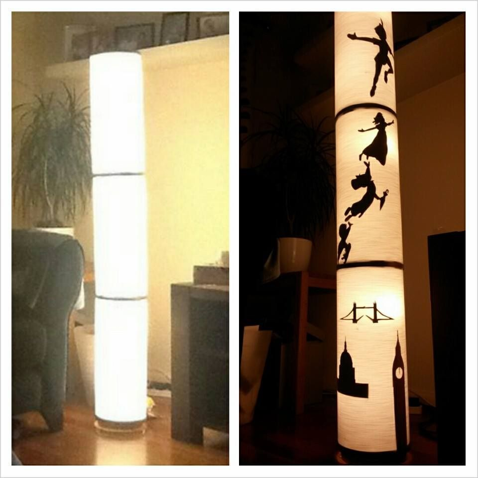 Ikea Vidja lamp. Upcycled using homemade Peter Pan and London ...