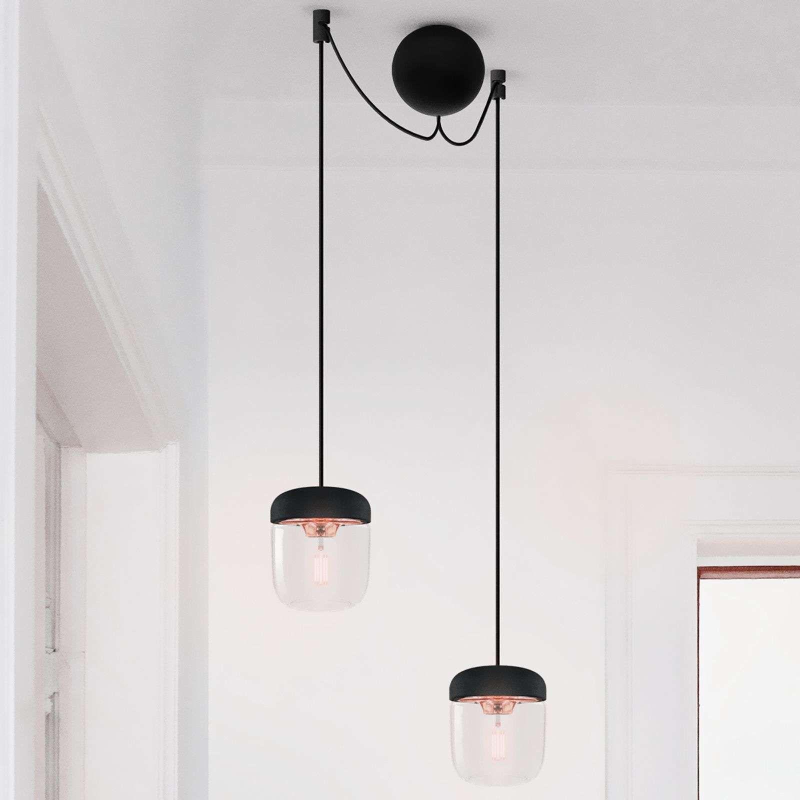 Umage Acorn Hanglamp Zwart Koper 2 Lampen In 2020 Hanglamp Lampen En Helder Glas