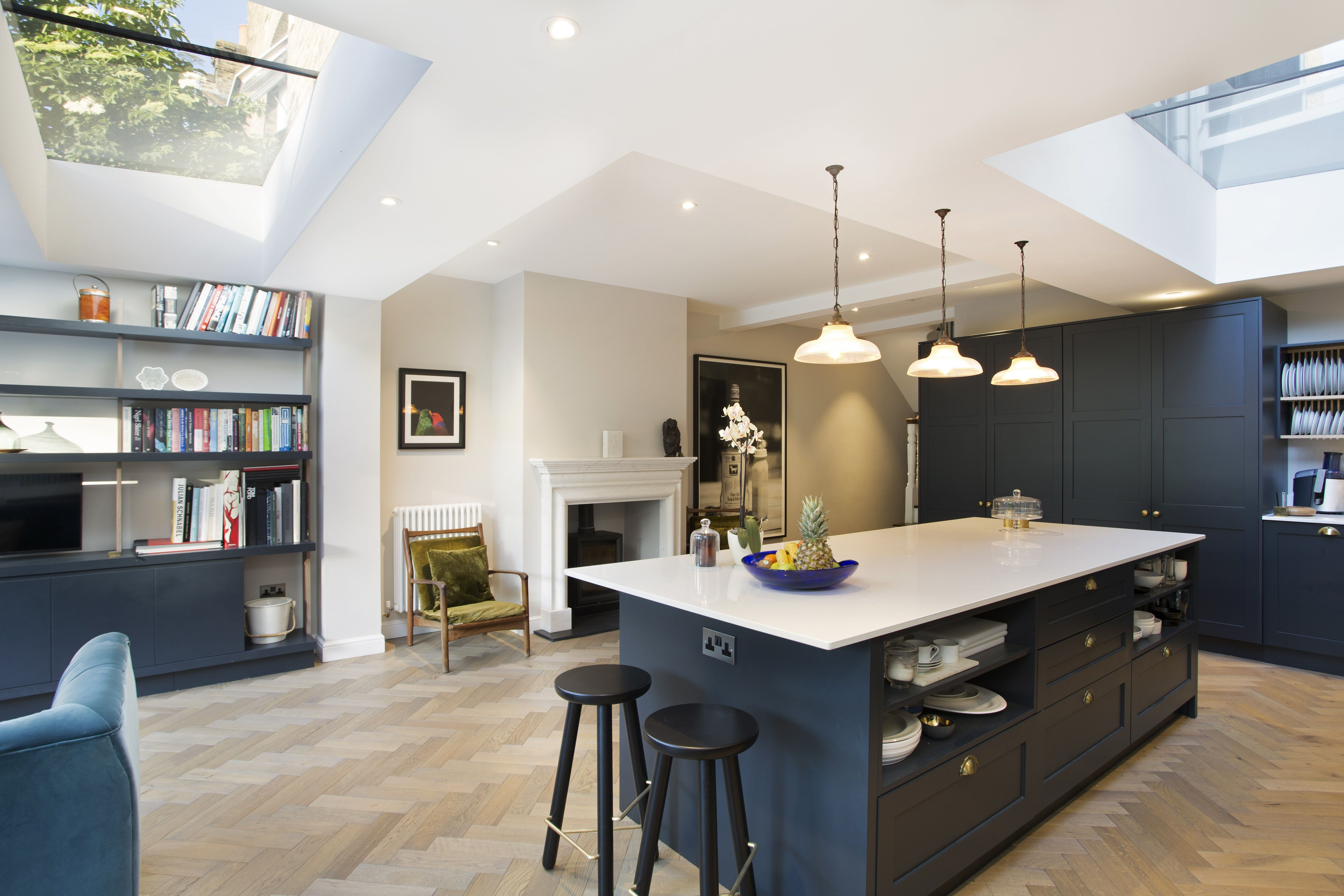 contemporary kitchen design with stunning rooflights contemporary