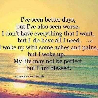 Blessed with a imperfect life
