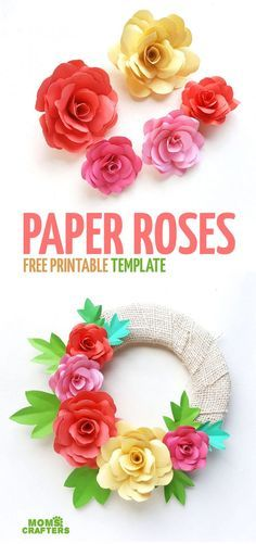 Photo of Download the free paper roses template!
