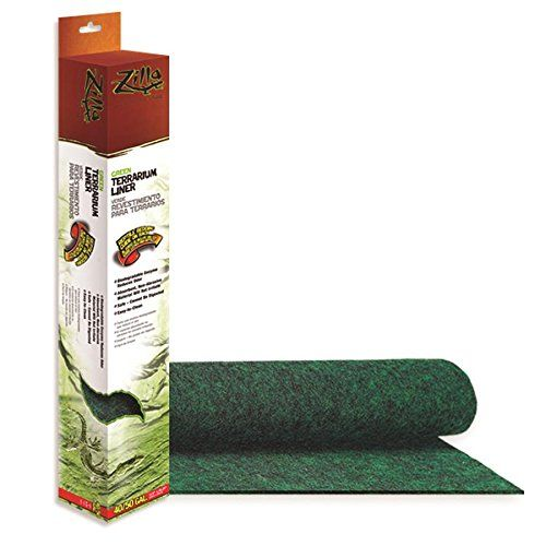 Zilla Reptile Terrarium Bedding Substrate Liner Green 40br 50g A Low Maintenance Bedding Simply Roll Out And Cu Reptile Terrarium Terrarium Reptile Habitat