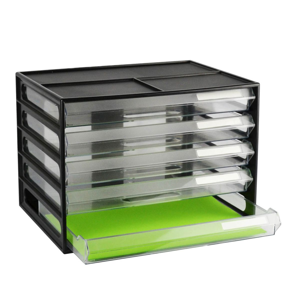 greenR A4 Document Cabinet - Recycled Black