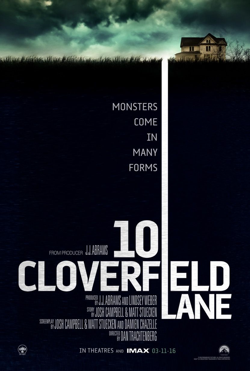 Poster design top 10 - 10 Cloverfield Lane Poster Monsters Come In Many Forms
