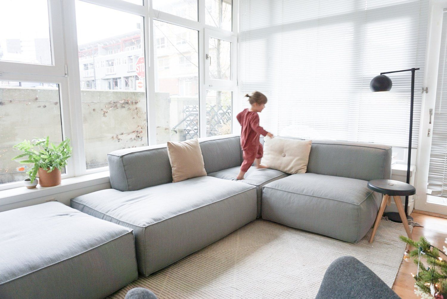 A Modular Sofa For Our Small Space 600sqftandababy Sofas For Small Spaces Small Space Living Room Modular Sofa