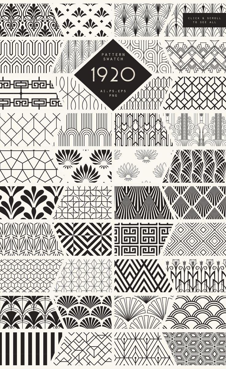 Photo of 1920 Art Deco Seamless Patterns by The Paper Town on Creative Market