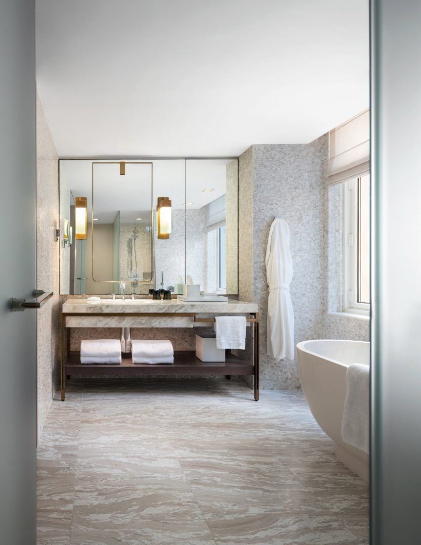 Asia Style Badezimmer Four Seasons Downtown By Yabu Pushelberg Hotel New York Häuser