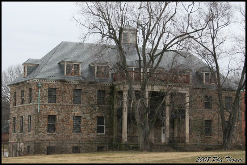One of the original hospital buildings at rosewood  in 2008